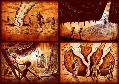 underground alien battle