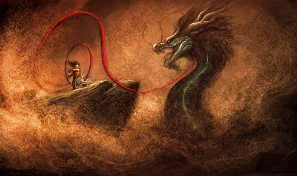 Nezha_fight_the_dragon